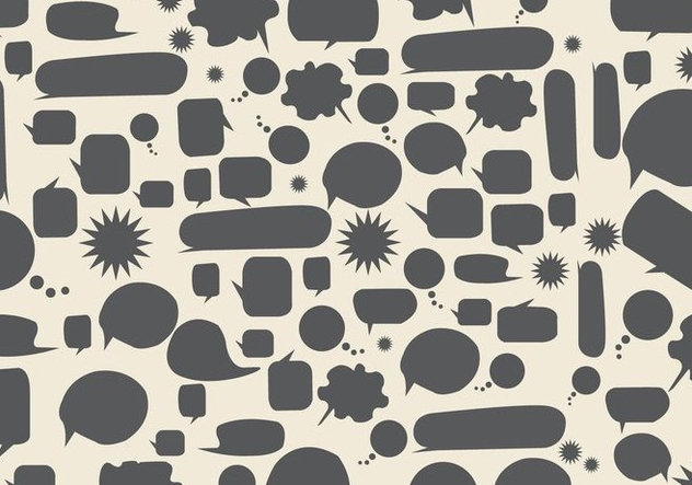 Free Speech Bubbles Background Vector - Free vector #360809