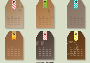 Vector Tags With Decorative Post Marks - vector gratuit #360839
