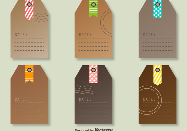 Vector Tags With Decorative Post Marks - Kostenloses vector #360839