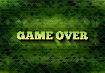 Free Vector Pixel Message: Game Over - vector gratuit #360929