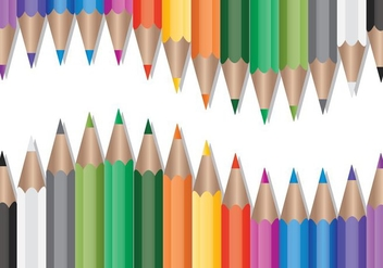 Set of Colored Pencils Vector - vector gratuit #360949