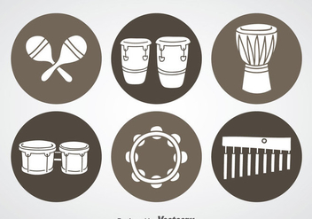 Percussion Instrument Icons - vector #361029 gratis