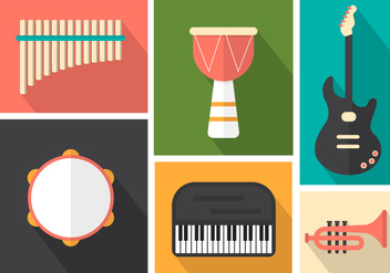 Musical Instruments For Pop, Jazz And Rock - vector gratuit #361169