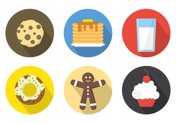 Breakfast Icons Background - Free vector #361189