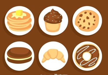 Sweet Cake Vector Sets - Kostenloses vector #361199