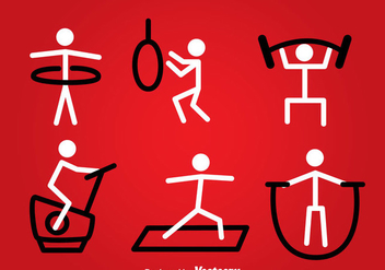 Exercise Stickman Vector - vector gratuit #361219