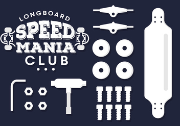 Vector Set Of Longboard Illustrations - vector gratuit #361249
