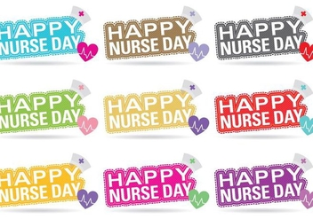 Nurse Day Vector Titles - бесплатный vector #361389
