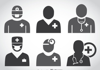 Doctor Icons Vector - Free vector #361539