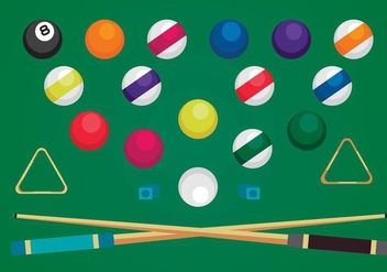 Free Pool Elements Vectors - бесплатный vector #361609