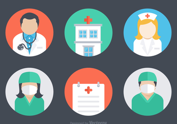 Free Flat Hospital Vector Icons - Kostenloses vector #361629
