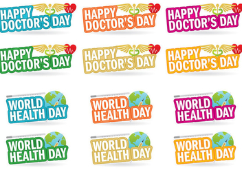 Doctors Day Titles - бесплатный vector #361799