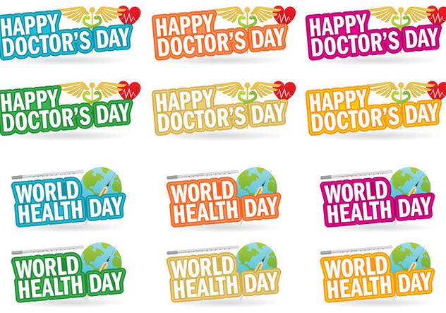 Doctors Day Titles - vector gratuit #361799