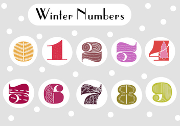 Free Retro Numbers Vector Background - vector gratuit #361889