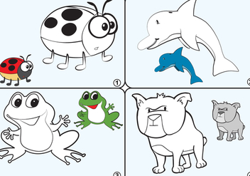 Coloring Page Animal Vectors - vector #361909 gratis