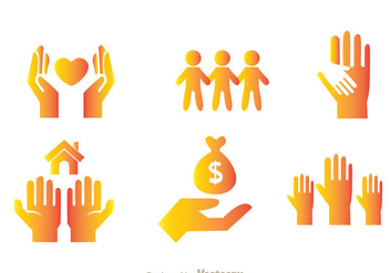 Donate Icons - vector #361919 gratis