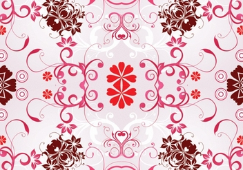 Pink Seamless Floral Pattern Background - vector #361979 gratis