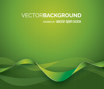 Green backgroung with abstract shapes - vector gratuit #361989