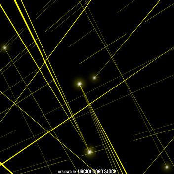 Yellow laser beams vector - vector gratuit #361999