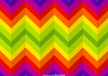 Free Zigzag Rainbow Vector Background - vector gratuit #362039
