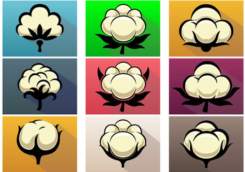 Cotton Plant Vector Icon Set - бесплатный vector #362049