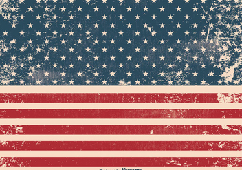 Grunge American Flag Background - vector gratuit #362079