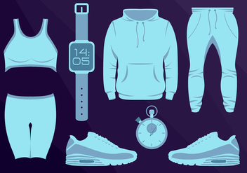 Sport Wear Equipament Running Vector Illustration - бесплатный vector #362129