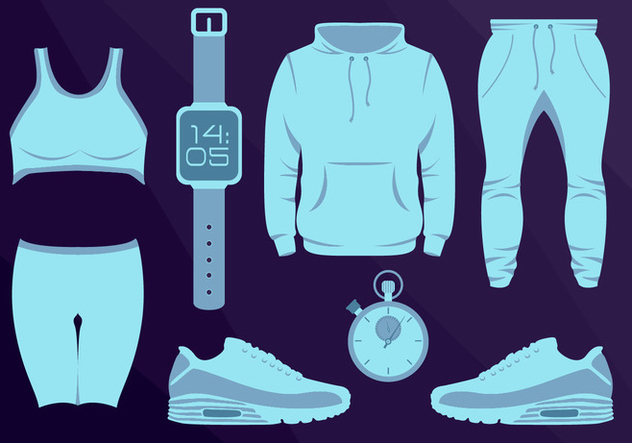 Sport Wear Equipament Running Vector Illustration - Free vector #362129