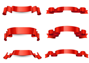 Free Red Ribbon Vector - бесплатный vector #362159