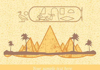 Cleopatra Party Invitation - vector #362189 gratis