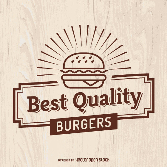 Vintage fast food sign - vector #362219 gratis