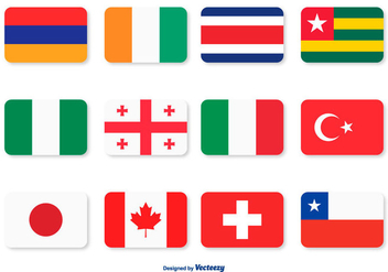Assorted Flag Icon Set - vector gratuit #362259