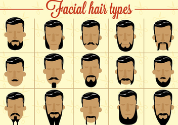 Free Facial Hair Vector - vector gratuit #362419