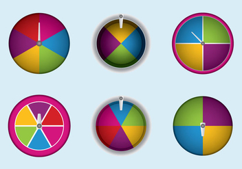 Free Spinning Wheel Vector Illustration - бесплатный vector #362429
