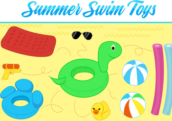 Free Summer Toys Vector Background - бесплатный vector #362469
