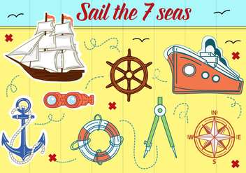 Free Sail Boats Vector Background - бесплатный vector #362489