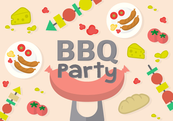 Free Barbecue Party Vector - Kostenloses vector #362519