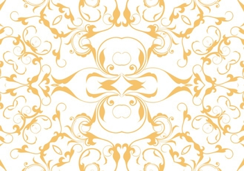 Orange Floral Seamless Pattern Background - vector #362549 gratis