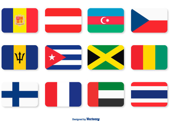 Assorted Flags Icon Set - vector gratuit #362629