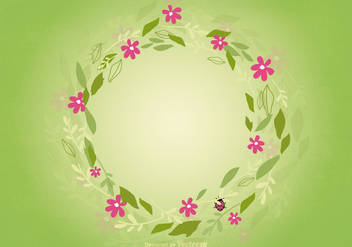 Floral Wreath Background - бесплатный vector #362649