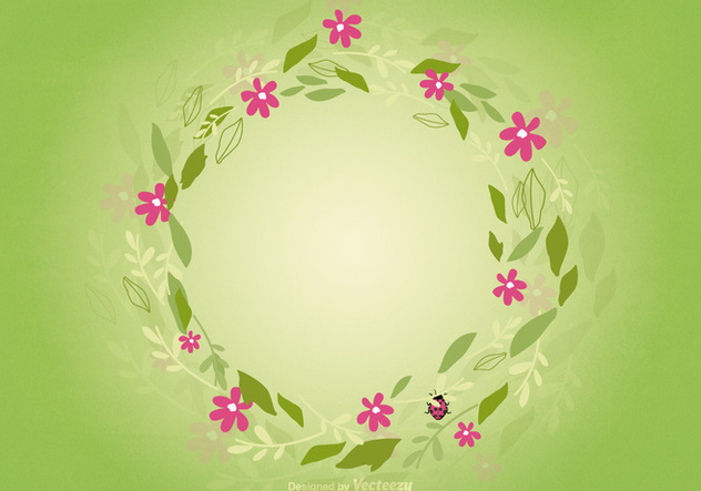 Floral Wreath Background - vector gratuit #362649