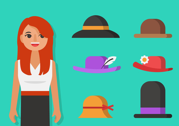 Vector Ladies Hat - vector gratuit #362669