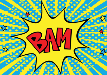 BAM Comic Style Background Illustration - Free vector #362689