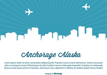 Anchorage Alaska Skyline Illustration - Free vector #362709