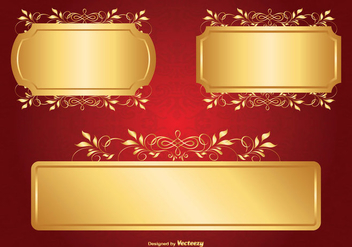 Gold Label Set - vector #362719 gratis