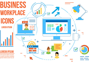 Free Business Vector Workplace - бесплатный vector #362729