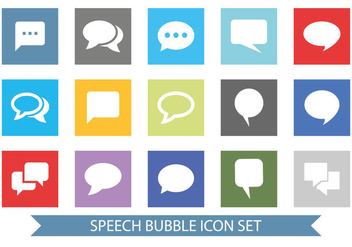 Message Bubble Icon Set - vector gratuit #362779