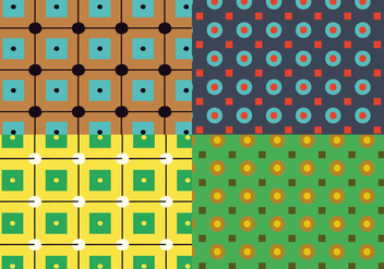 Square Circles Pattern - Free vector #362879