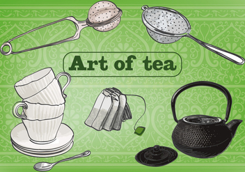 Free Art of Tea Vector Background - Kostenloses vector #362919
