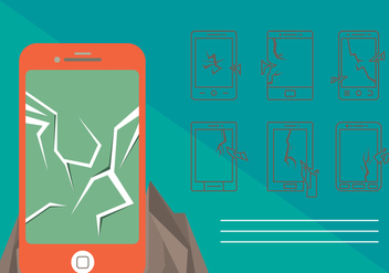Free Cracked Phone Screen Vector - Kostenloses vector #362949